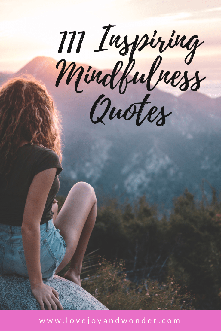 111 Most Inspiring Mindfulness Quotes - LoveJoyandWonder