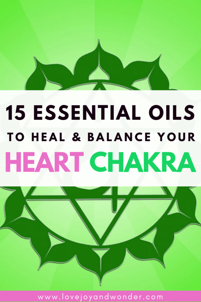 Colourful flower Use these 15 beautiful essential oils for the Heart Chakra to open, heal, and balance your heart charka energy. Feel more joy, loving and connected. We've also included a quick heart chakra guide with 10 ways and tips to open your heart charka, including yoga poses, crystals and stones.
