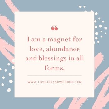 Affirmations to love yourself