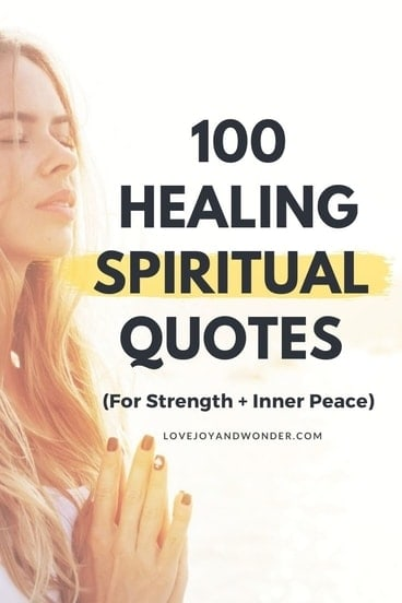 Healing Spiritual Quotes and Messages